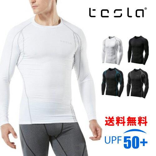 TESLA テスラ 長袖 スポーツシャツ メンズ コンプレッションウェア 加圧 シャツ インナー アンダーウェア オールシーズン 吸汗 速乾 MUD11