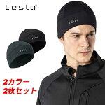 テスラTESLA軽量秋冬帽子アウトドアビーニーキャップ[吸汗速乾・紫外線カット]男女兼用