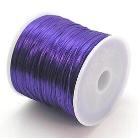 カラーゴムひもパンジー色 ポリウレタン製 サイズ(約0.8mmX70m ゴム糸 ラバーコード 6-ru-1
