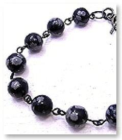 オブシディアン ブラックシルバー ブレスレット シルバー925 ブレス 【テスティーロ】メンズアクセサリー