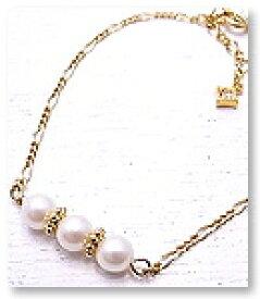 ブレスレット パール 真珠 ゴールド チェーン 3pearl Bracelet 【Cg*eM+W:D[チェムダブリュディー]】ファッションアクセサリー ch-b1