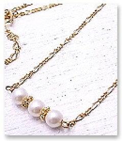 3パール ネックレス 3pearl Necklace Ch*eM+W:D[チェムダブリュディー]ファッション アクセサリー ch-n2