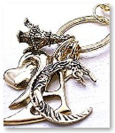 ハートと月のチャーム キーチャーム キーホルダー S.J.鎧(gai)天然石 アクセサリー sj-18