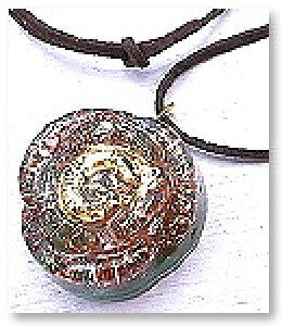 オルゴナイト バラ型 (大/ブルー) ネックレス チャーム 薔薇 パワーストーン 天然石 水晶 ペリドット アメジスト カーネリアン ガーネット [わんだふるはうす] スピリチュアル 開運 癒し