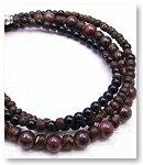 de-51-43 紅玉・黒瑪瑙 3重巻腕輪 天然石ブレスレット Mamma Miya[マンマミーヤ] 天然アクセサリー