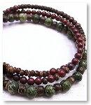 de-51-47 二種の碧玉 3重巻腕輪 天然石ブレスレット Mamma Miya[マンマミーヤ] 天然アクセサリー