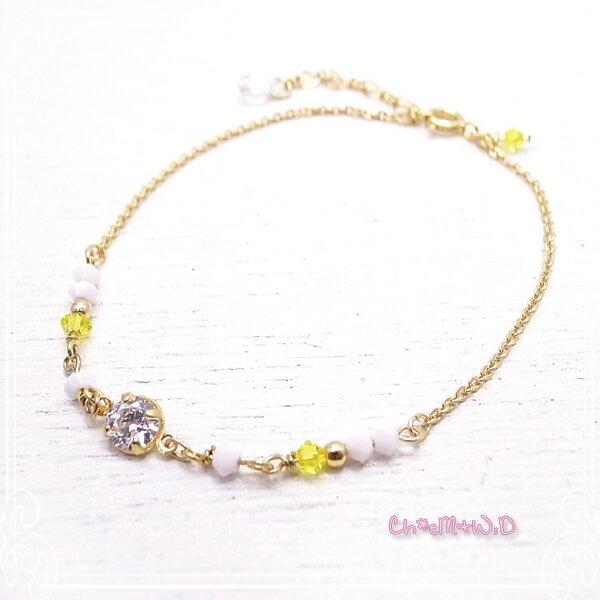 Ch*eM+W:D[チェムダブリュディー]COLOR swarovski Bracelet【pop】 ファッションアクセサリー de-47-ch-b4