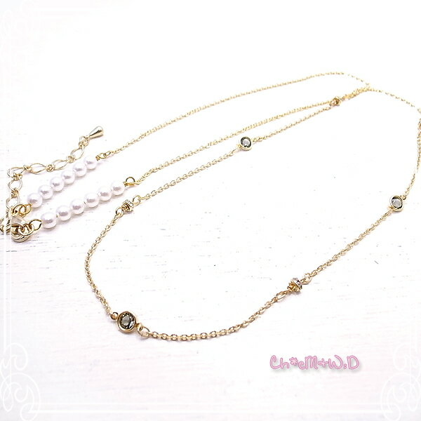 Ch*eM+W:D[チェムダブリュディー]Color of black diamond Necklace ファッションアクセサリー de-47-ch-n11