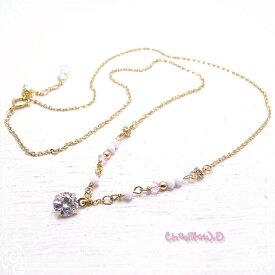 Ch*eM+W:D[チェムダブリュディー]COLOR swarovski Necklace【pop】 ファッションアクセサリー de-47-ch-n6