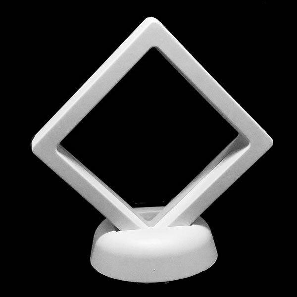 ルースケース 【エアフィルムケース】 白 88mm 《1個》 スタンドジュエリーケース ABS 特殊ゴム 裸石ケース/ジュエリーケース/宝石ケース/コインケース
