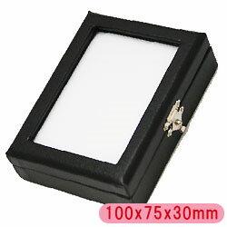 【ルースケース】 約100x75x30mm 1個 /合皮素材 裸石ケース/ジュエリーケース/宝石ケース/コインケース