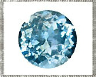 lo-aqm-rf-030 천연석 르스아크아마린라운드캇트 약 3 mm 1개라석