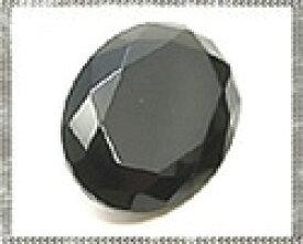 オニキス(ブラックアゲート) 【オーバルファセットカット】 約8x10mm ルース 1個 裸石 天然石