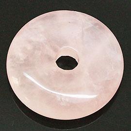 ローズクォーツ 【ピーディスク】 35mm ムナイキ 《1枚》 ドーナツ Pディスク 天然石