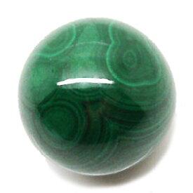 マラカイト 【天然石パーツ】 丸玉 (穴なし) 約14x14mm《1個》 ラウンドビーズ