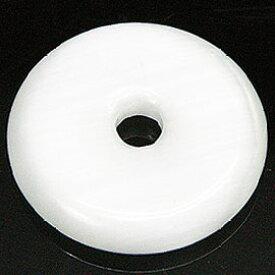 キャッツアイ ホワイト 【合成石 ピーディスク】 25mm ムナイキ 《1枚》 ドーナツ Pディスク 天然石