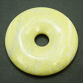 レモンストーン 【ピーディスク】 50mm ムナイキ 《1枚》 ドーナツ Pディスク 天然石