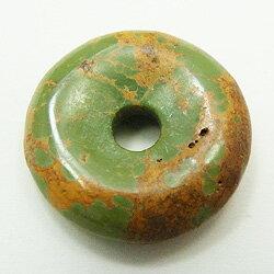 ターコイズ 【ピーディスク】 20mm ムナイキ 《1枚》 ドーナツ Pディスク 天然石