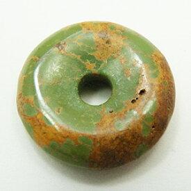 ターコイズ 【ピーディスク】 25mm ムナイキ 《1枚》 ドーナツ Pディスク 天然石