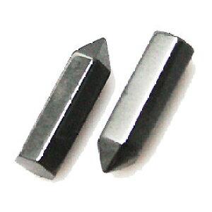 ヘマタイト 【天然石チャーム】 ポイントパーツ 約16x4.5mm前後 《1個》