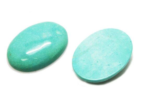 ターコイズ 【オーバルカボション】BIGルース 約30xx6.5mm 《《1個》》 天然石