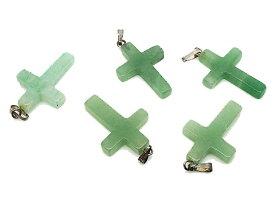 アヴェンチュリン 【天然石パーツ】 クロス 十字架 ペンダントパーツ 約x1mm前後 《《1個》》 モチーフパーツ