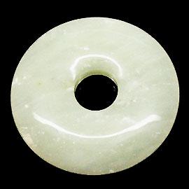 ニュージェイド 【ピーディスク】 40mm ムナイキ 《1枚》 ドーナツ Pディスク 天然石