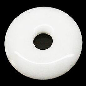 ホワイトジェイド クォーツァイト 【ピーディスク】 35mm ムナイキ 《1枚》 ドーナツ Pディスク 天然石