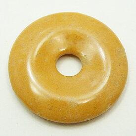イエロージャスパー 【ピーディスク】 35mm ムナイキ 《1枚》 ドーナツ Pディスク 天然石