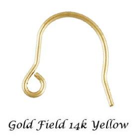 【ピアスフックパーツ】 14KGF 約10mm 《10ペア》 14Kイエロー ゴールドフィルド アクセサリーパーツ 金具