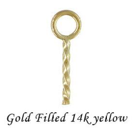 【ペンダントパーツ】 14KGF ヒートン 約 L6.5mm 《10個》 14Kイエロー ゴールドフィルド K14GF アクセサリーパーツ 金具 fh20-14y