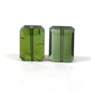 グリーントルマリン 【スクエア型ビーズ】 約7x5x3mm 《2個セット》 ビーズ 天然石