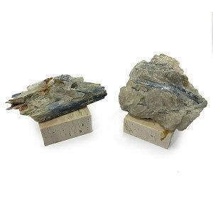 カイヤナイト 【鉱物標本 数量限定】 置物(大理石台付き) ランダムセレクト 天然石 原石 パワーストーン スピリチュアル ヒーリング コレクション