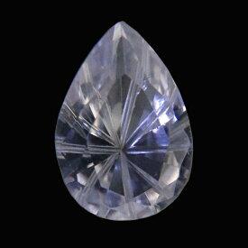 人工 合成 ホワイトサファイア ピアカット(特殊カット) 【7x10mm】 ルース 天然石 裸石