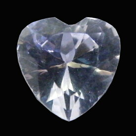 人工 合成 ホワイトサファイア 【ハートカット】 【8mm】 ルース 天然石 裸石