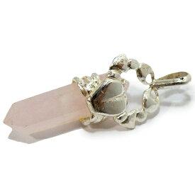 かに座 ペンダントトップ ローズクォーツ(Rose quartz) 41mm シルバー925 ポイント 【1点限定】
