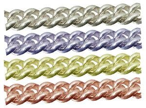 シルバーチェーン キヘイチェーン 完成品(ネックレス) サイズ(幅 約:1.8mm 長さ:50cm) 1本 シルバー925 イエローロジウムカラーコーティング