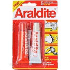 araldite アラルダイト エポキシ系 接着剤 【赤】2液性 / 修理 クラフト メタル ウッド セラミック ガラス プラスティック ジュエリー