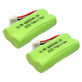 2個セット Panasonic KX-FAN57 対応 互換電池 電話子機 ニッケル水素電池 大容量 / BK-T412 / 対応 電話機 子機 アクセサリ