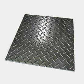 縞鋼板 300mm×600mm×4.5mm 溶融亜鉛めっき(ドブメッキ) | 屋外 屋内 加工 DIY 切断 溶接 材料 鉄