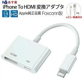 【楽天3位】【アップル純正品質By FOXCONN】Apple Digital AV アダプタ デジタル 動画視聴 iPhone to HDMI 変換アダプタ 充電ケーブル HDMI 変換ケーブル テレビ接続ケーブル ゲーム カーナビ 1080P 音声同期出力