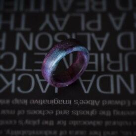 ウッドジュエリー ウッドリング ウッド リング 木製指輪 木製リング レディース メンズ 木材 色 プレゼント かわいい 10号強サイズ 厚み3mm 甲幅7mm 模様の指輪 グラデーション 樹木