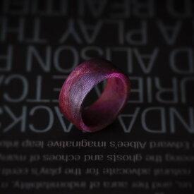 ウッドジュエリー ウッドリング ウッド リング 木製指輪 木製リング レディース メンズ 木材 色 プレゼント かわいい 10号強サイズ11号ではきつい 厚み2.5mm 甲幅9mm 模様の指輪 グラデーション 樹木