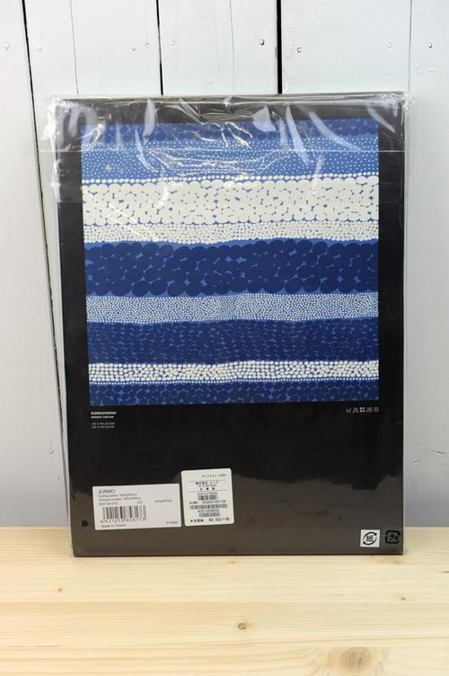 marimekko(マリメッコ) 『バスルーム用シャワーカーテン』Jurmo(色:ライトブルー×ネイビー×ホワイト)※国内正規取扱店  02P03Dec16