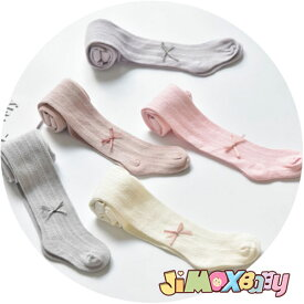メール便対応可能 タイツ ベビー用タイツ フォーマル 秋春 リボン付き 可愛いカラー 三つ編み柄 リボン