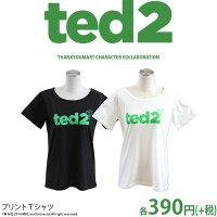 メール便OK1通180円TED2コラボプリントTシャツロゴサンキューマート//10