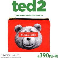 メール便OK1通180円TED2コラボフラットポーチサンキューマート//10