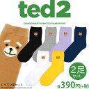 メール便OK1通180円 TED2 靴下 2足セット サンキューマート//10