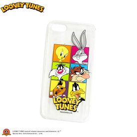 ネコポスOK1通270円 Looney Tunes ルーニーテューンズ コラボ クリアiPhoneケース iPhone6/6s/7/8 兼用 サンキューマート//03