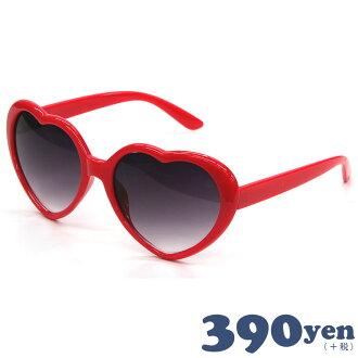 1付180日元心太阳眼镜漂亮的没镜片的眼镜红感谢市场//10